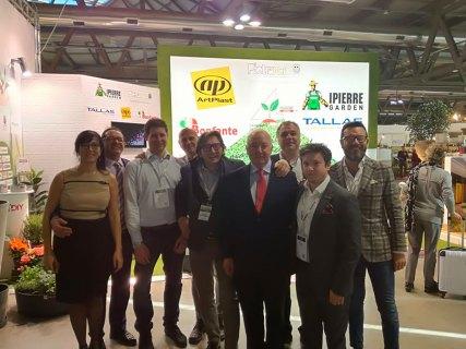 John Herbert, segretario generale di EDRA e GHIN, in visita presso lo stand di Made4Diy a Myplant&Garden