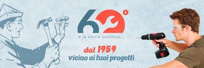 Il banner del 60° sul sito BricoBravo