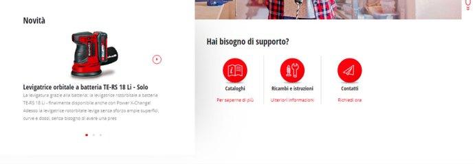 Il nuovo sito web di Einhell Italia