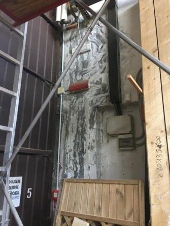I danni causati dal nubifragio all'azienda Artigiana Compensati