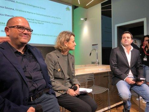 I tre relatori: Gianni Bientinesi, Stefania Savona e Federico Stecchi