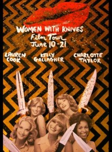 Women With Knives 2014 Film Tour poster.