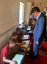 Kaymakam Öztürk, Kur'an Kursu öğrencileriyle sohbet etti