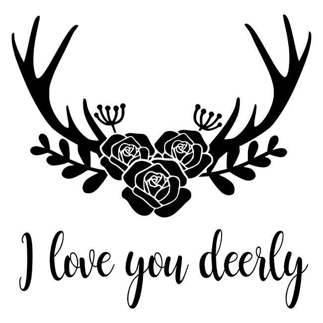 Download I Love You Dearly Stencil - DIY Art in a Box