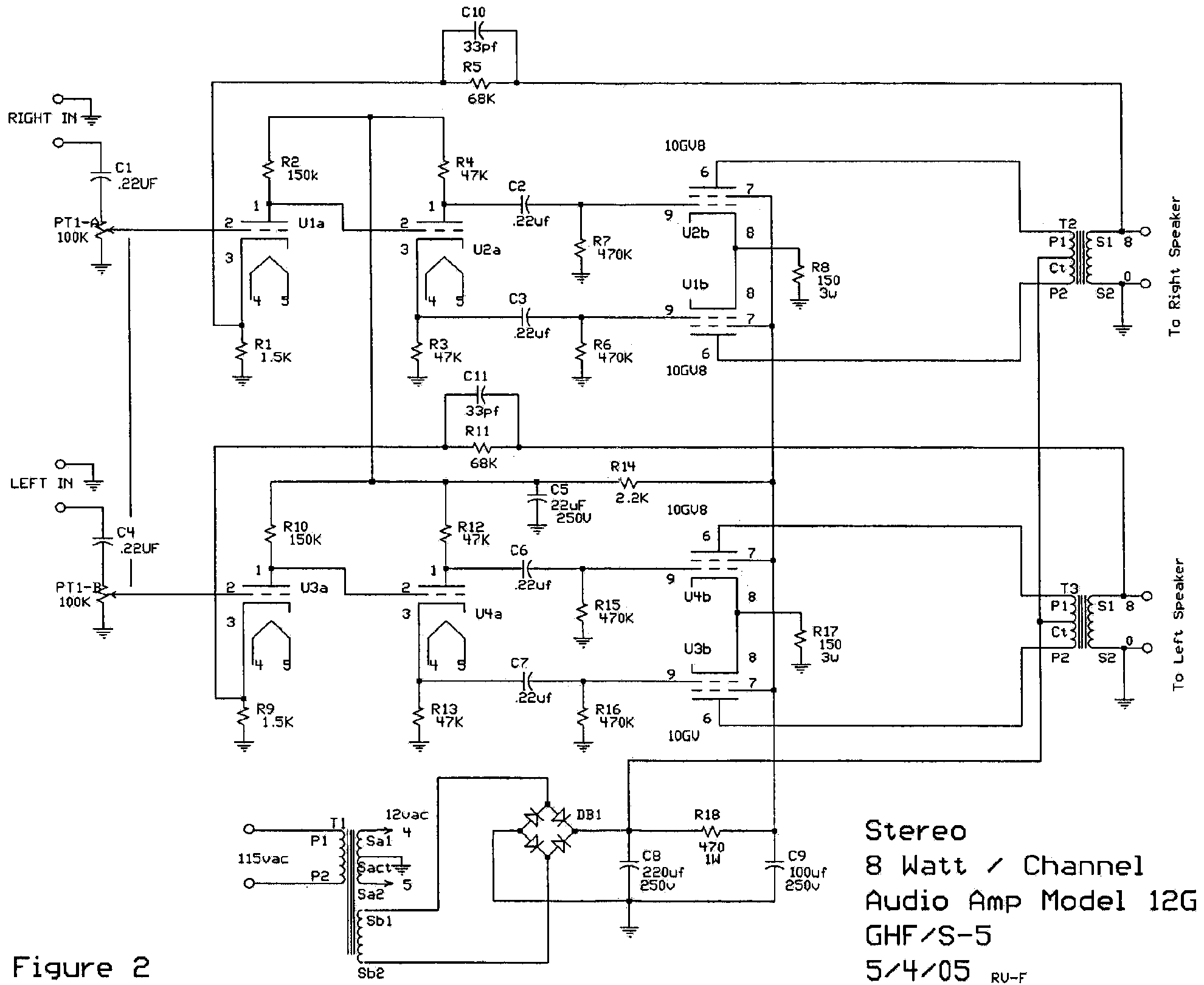 12 Volt Audio Amplifier Schematics