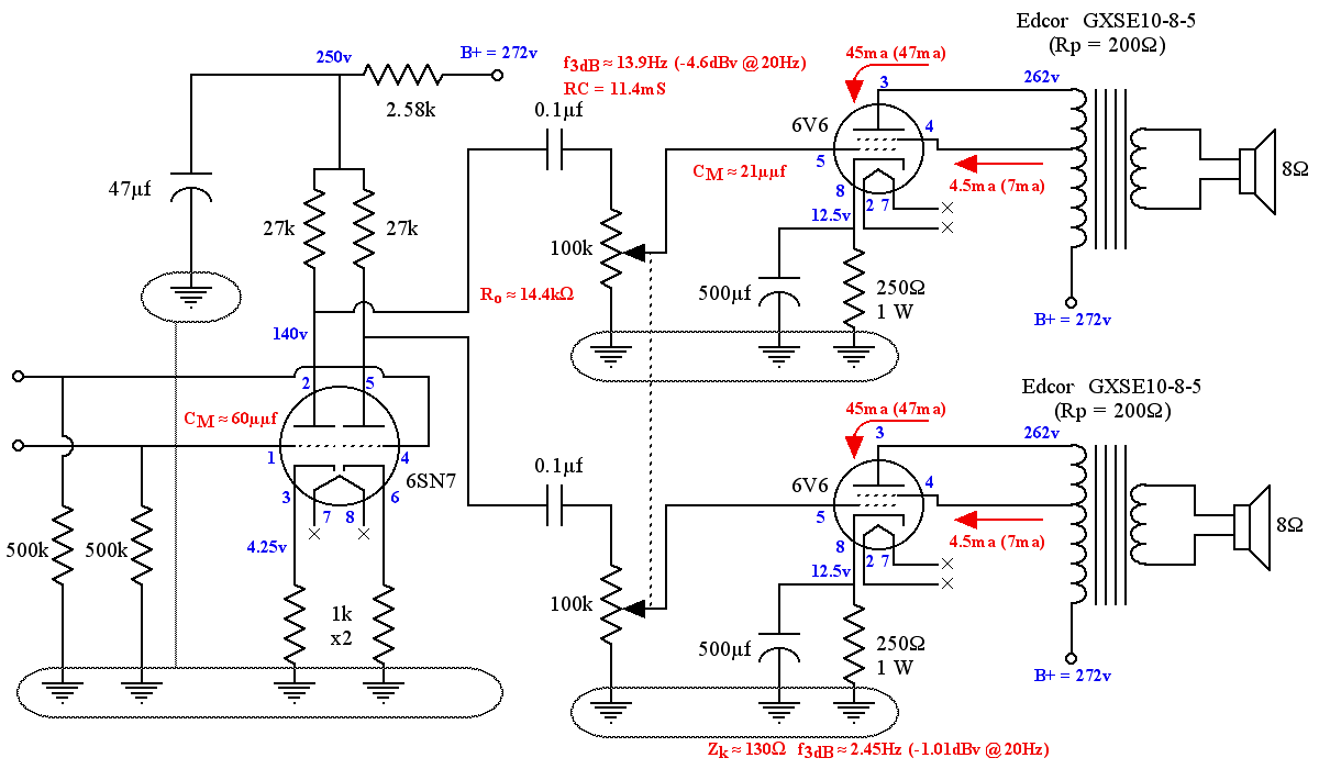 Diy 6v6 Se Ul Tube Amplifier Schematic