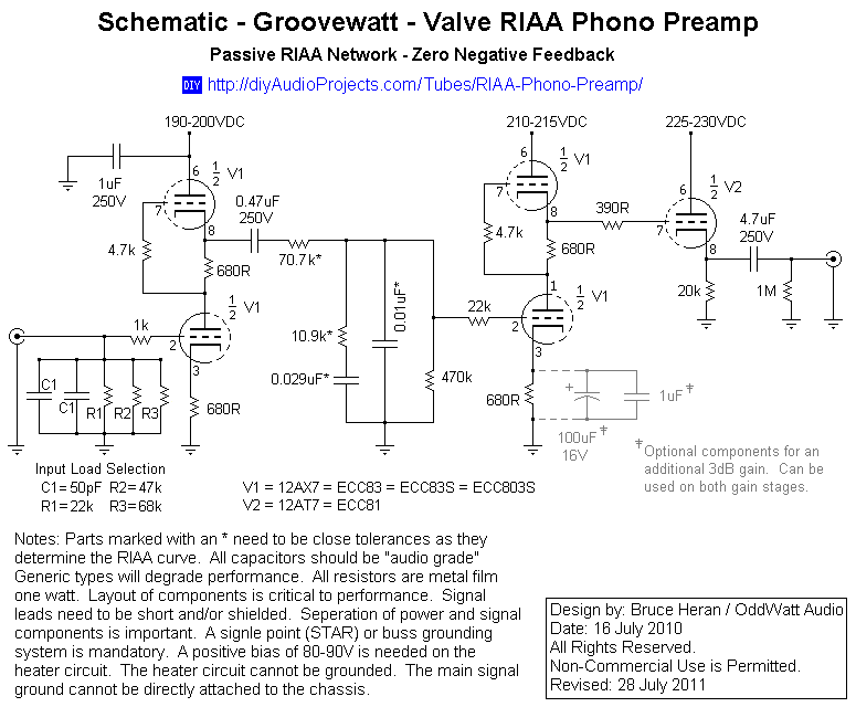 Diy Phono Preamp Schematic | Diydrywalls org