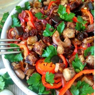 Aubergine_and_sultanas_pasta_salad_vegan_recipe_diybites