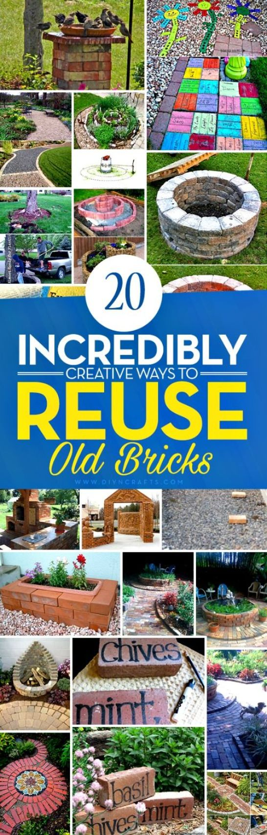 These repurposed brick DIYs are so awesome!