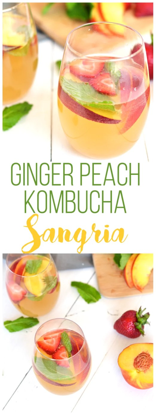 This ginger peach kombucha sangria recipe sounds so good! I am trying it out ASAP!