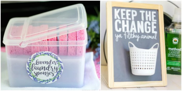 These 16 Laundry Room Hacks Are LIFE-CHANGING! I love the organization ideas as well as the cute little labels!
