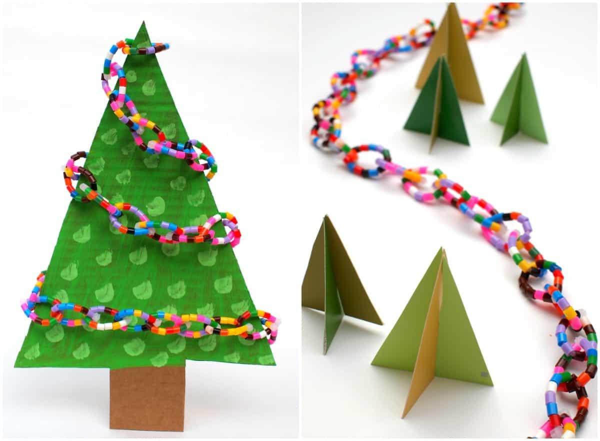 Easy Perler Bead Christmas Tree Garland DIY Candy