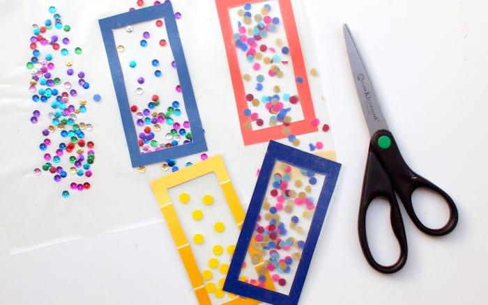 Easy Kids Craft Confetti DIY Bookmarks