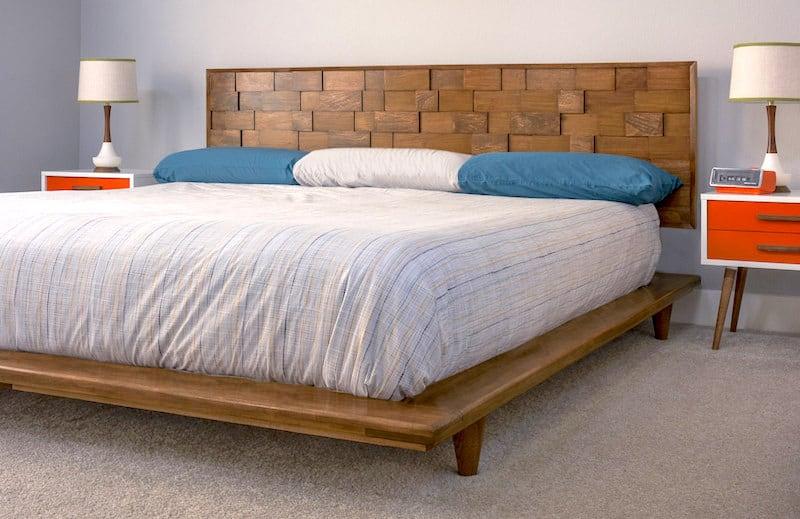 this diy platform bed frame is