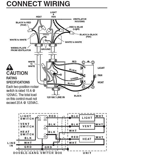 Wiring Diagram Bathroom Fan And Light - Decoration Ideas | Bathroom Combo Exhaust And Heater Unit Wiring Diagram |  | Decoration Ideas - blogger