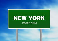 New York Highway Sign