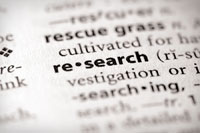 Dictionary defiition of research representing how to research a college