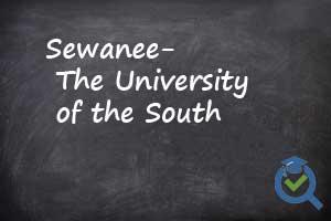 Sewanee the University of South chalkboard