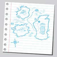 Treasure map representing what players need to do to be Recruited to Play in College