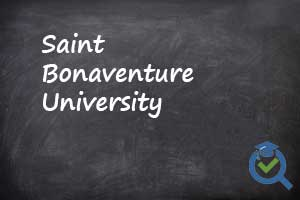 Saint Bonaventure University on chalk board