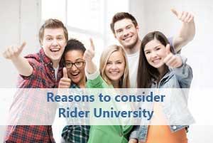 Students considering Rider University
