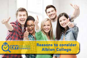 students happy about Albion College