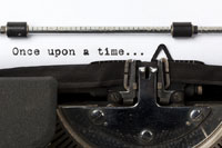 words once upon a time on a typewriter