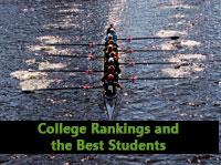 Racing boat representing college rankings