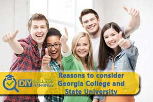 student happy about Georgia College and State University