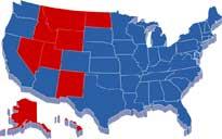 US map showing public university graduation rates