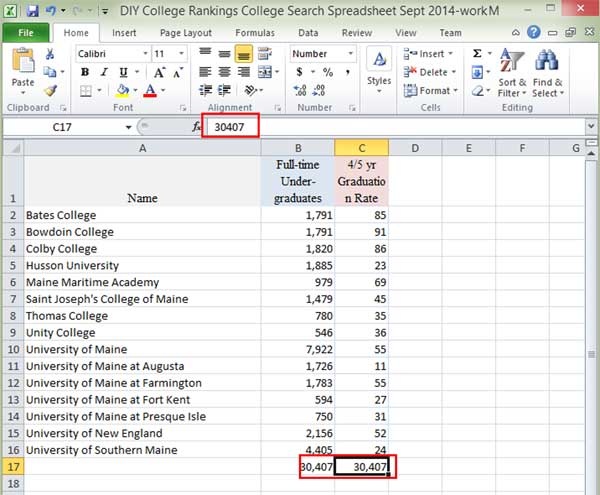 Results of pasting values in Excel