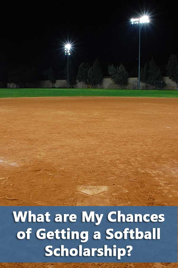 Explains the chances of getting a softball scholarship based on number of players and availability of softball programs.