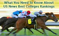 Horse race representing US News College Rankings