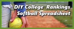 softball player holding ball representing college softball recruiting spreadsheet