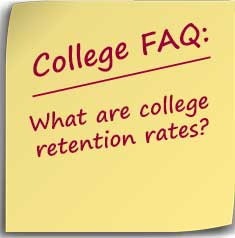 Post-it Note asking what are college retention rates?