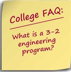 Post-it note asking What is a 3-2 engineering program?