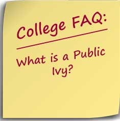 Post-it note asking what is a public ivy?