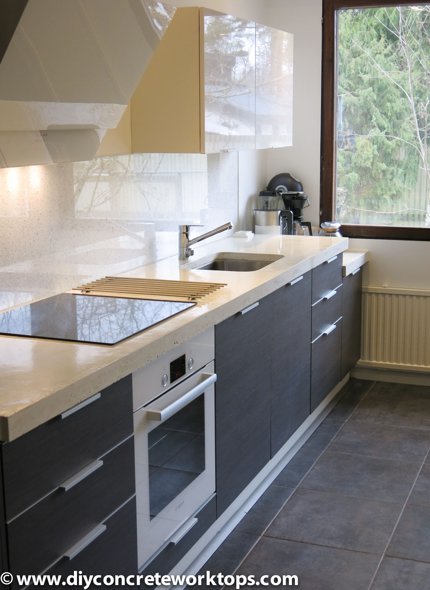 concrete countertop undermount sink
