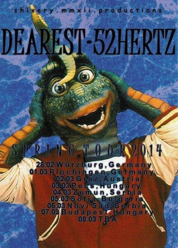 Dearest & 52 Herz tour poster.