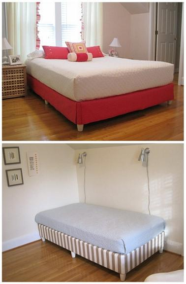 Skip The Bed Frame Fabric And Furniture Legs For Box