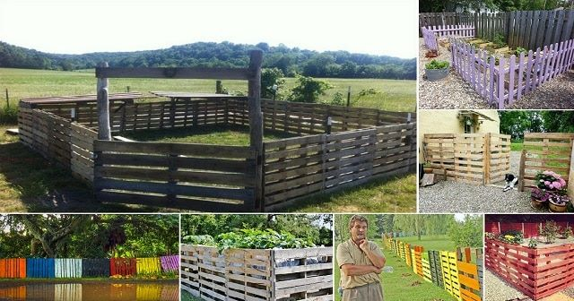 Build A Fence Out Of Wood Pallets Tutorial