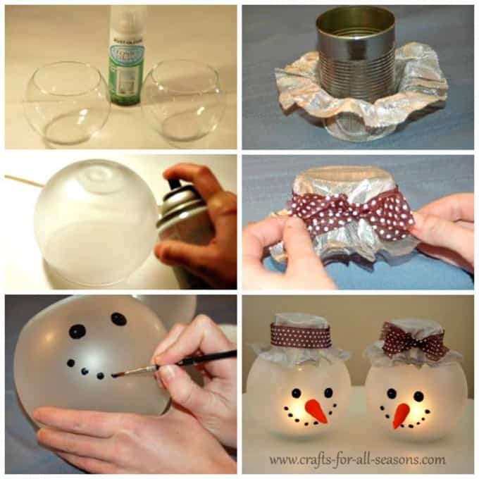 52 Spectacular DIY Christmas Decorations You Must Try This Year diy christmas decorations candle holder snowman