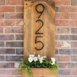 25 Modern & Affordable DIY House Number (Address Plate)