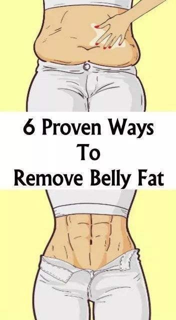 6 Proven Ways To Remove Belly Fat