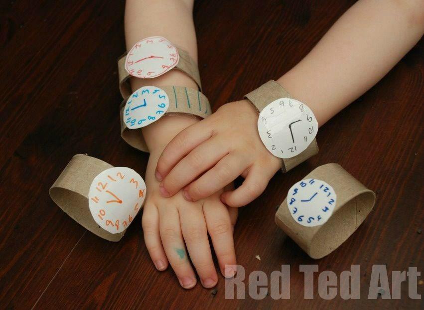 Reloj De Carton Manualidades