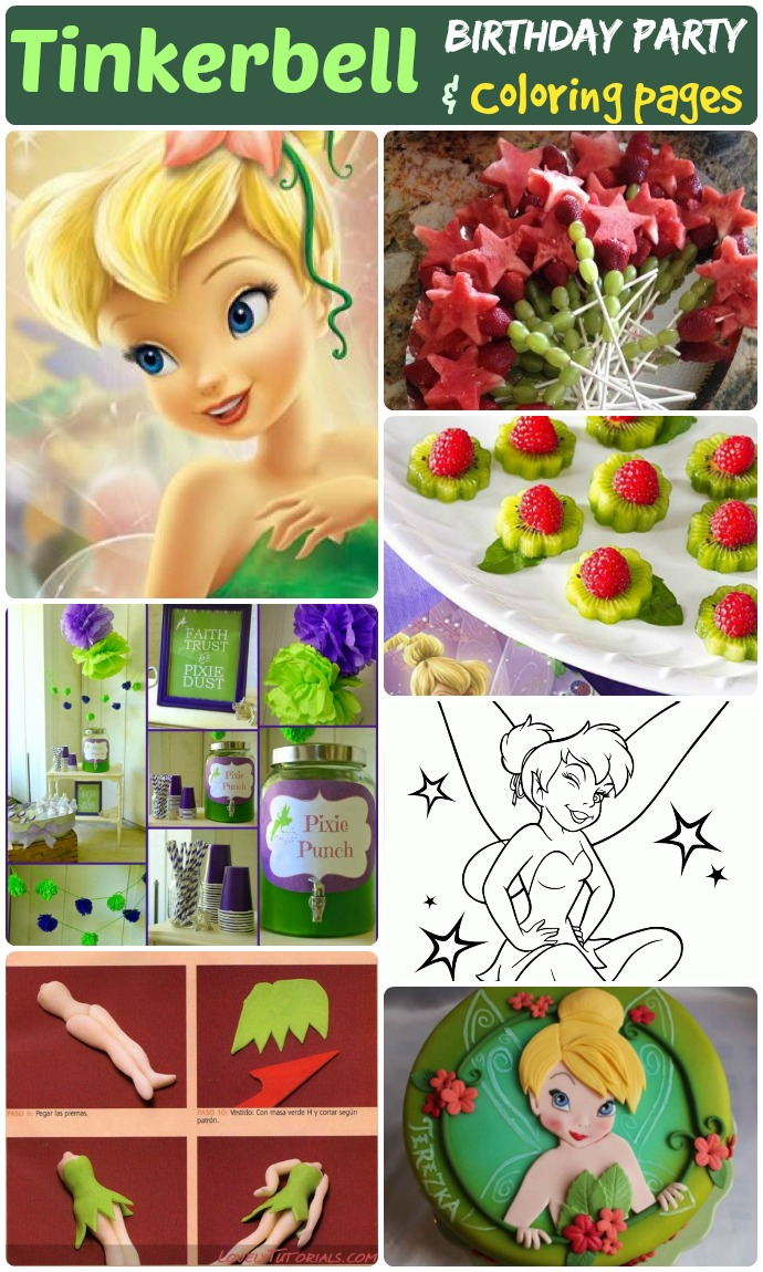 60 Tinkerbell Birthday Party Ideas Tinkerbell Coloring Pages