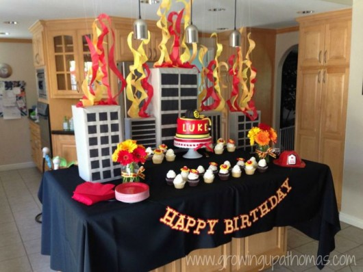 Fire Trucks And Fire Fighter Birthday Party Ideas