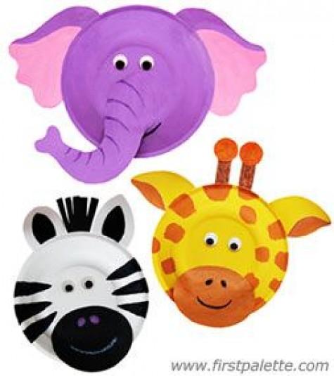 Paper Plate Tiger And Leopard. Animal Mask At Gets For Personal Use  sc 1 st  123400 Best Zebra 2018 & Zebra Face Mask Paper Plate - Best Zebra 2018
