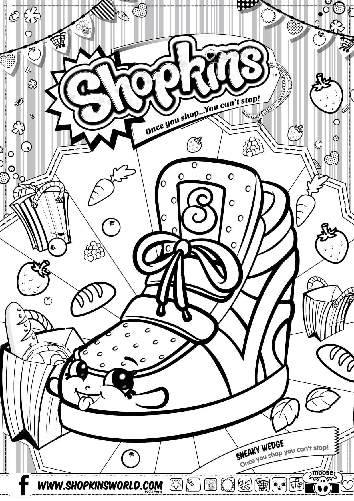 Shopkins Coloring Pages 1 Diy Craft Ideas Gardening