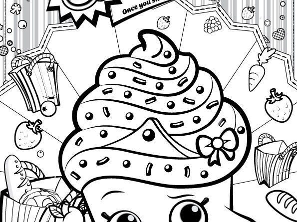 Print Shopkins Lippy Lips Coloring Pages Free Printable